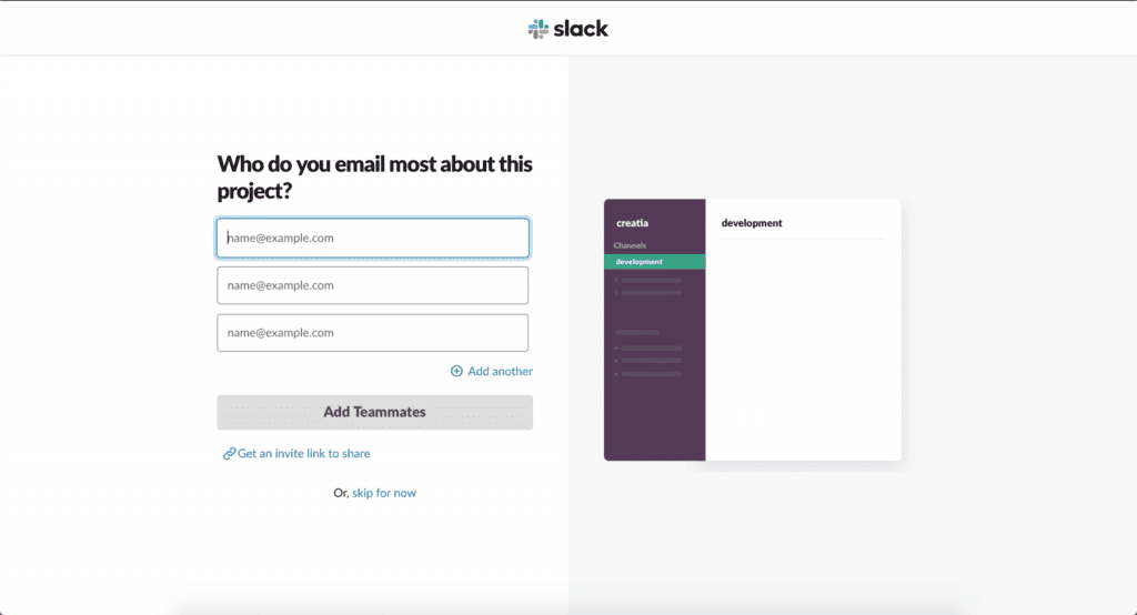 Who do you email most about this project? Slack