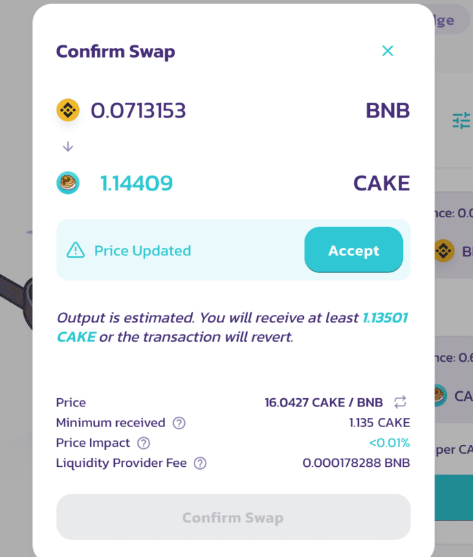 BNB to $Cake