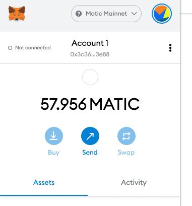 MetaMask Matic Wallet network